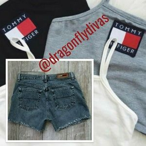Vintage Tommy Hilfiger Cutoff Jean Shorts